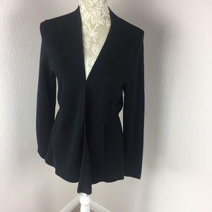 Talbots Black Cardigan Sweater Small